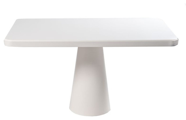 SOLD OUT Modern White Pedestal Table 1299 Est Retail