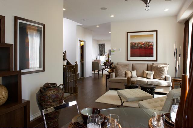 Residential Retro contemporary-living-room