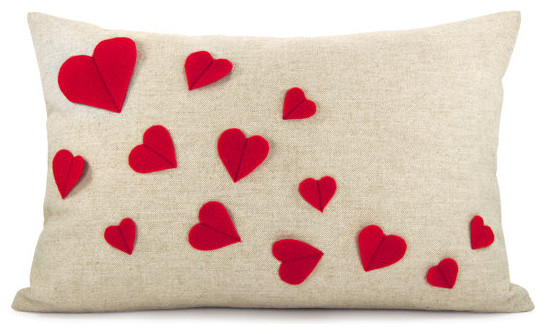 Growing Hearts Pillowcase by Classic by Nature modern-decorative-pillows