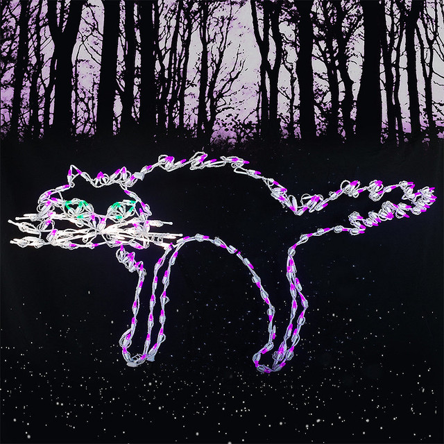 Scary cat led display outdoor christmas decorations for Christmas cat yard decorations