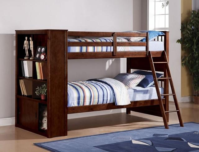 Espresso Twin-Twin Bunk Bed modern-kids-beds