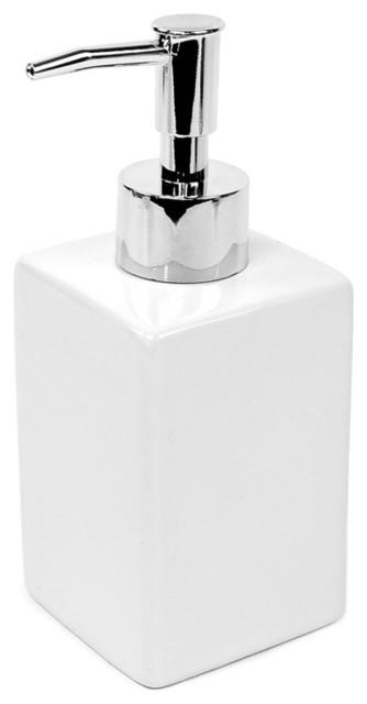White Ceramic Soap Dispenser contemporary-bathroom-accessories