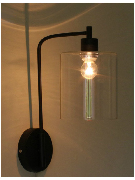 Antique Industrial And Glass Wall Sconce - Antique Industrial And Glass Wall Sconce
