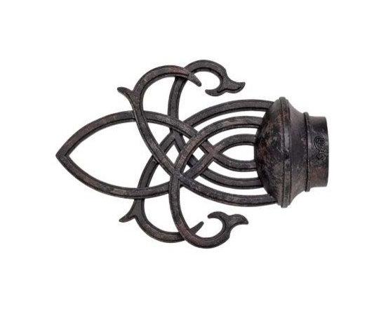 Kirsch Wrought Iron Inner Lace Finial - Kirsch Wrought Iron Inner Lace Finial