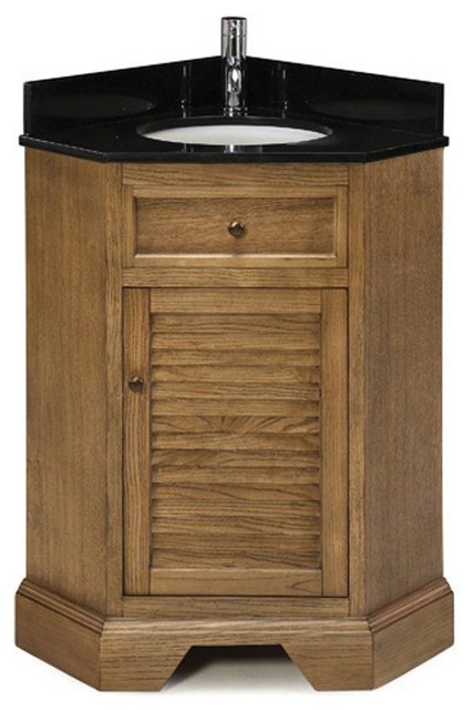 Palmetto Corner Vanity in Driftwood Finish - Contemporary - Bathroom Vanities And Sink Consoles ...
