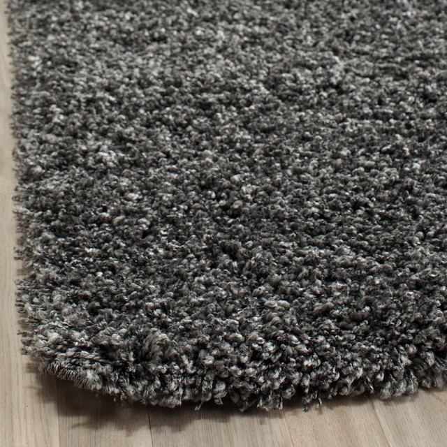 "Shag Shag 5'3""x7'6"" Rectangle Dark Grey Area Rug modern-rugs"