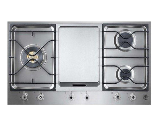 """Bertazzoni 36"""" Design Series Segmented Cooktop With Griddle Stainless 