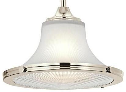 Restoration Warehouse Searcy Street Pendant - Polished Nickel traditional-pendant-lighting