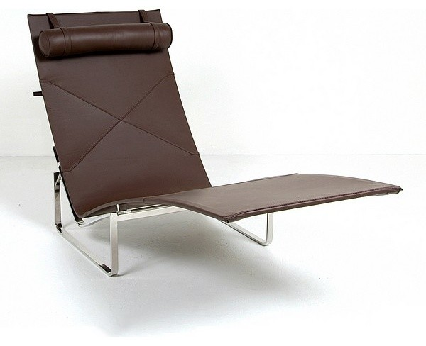 Kjaerholm pk24 chaise lounge reproduction modern - Designer chaise lounge chairs ...