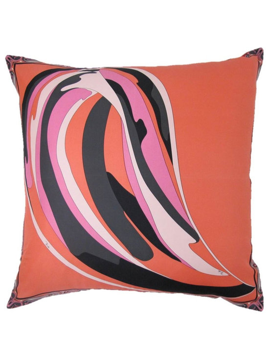 Coral Reef Pillow from Emilio Pucci Scarf - 24x24