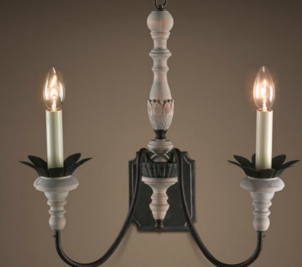 Wall Sconces Nyc: Antique Handmade Wood And Colophony Wall Sconce