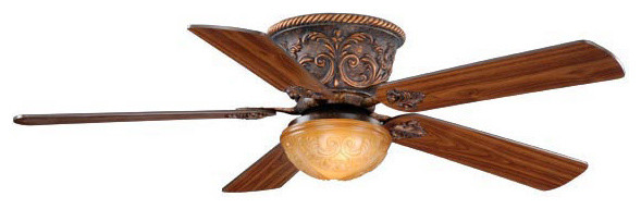"""Corazon Aged Bronze 52"""" Ceiling Fan traditional-ceiling-fans"""