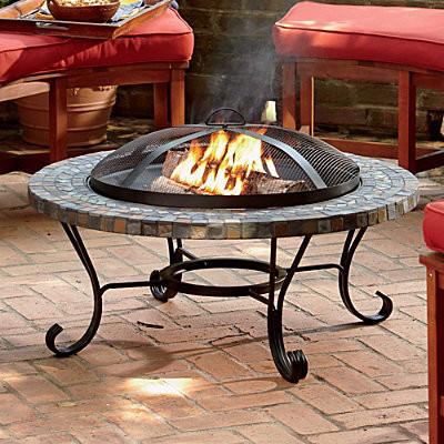 Slate Fire Pit contemporary-firepits