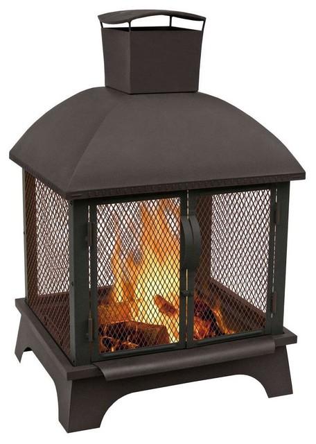 landmann outdoor fire pits redford 26 in wood burning. Black Bedroom Furniture Sets. Home Design Ideas