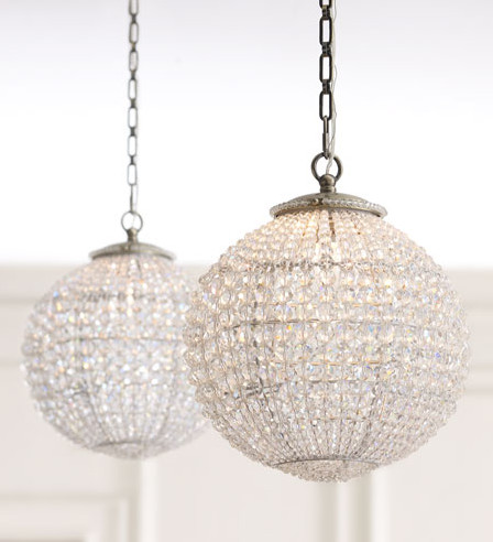 Crystal Ball Pendant contemporary-pendant-lighting