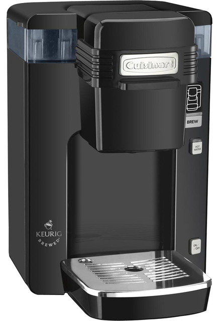 Cuisinart Keurig Compact Single-Serve Brewing System Black contemporary-coffee-makers-and-tea-kettles