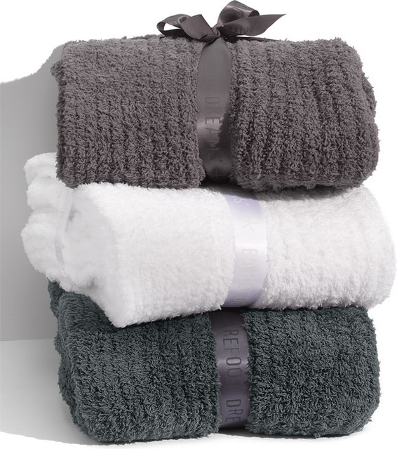 Barefoot Dreams® Cozy Chic Ribbed Blanket contemporary-blankets