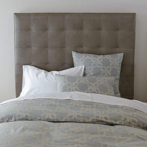 New Tall Grid-Tufted Leather Headboard - Modern - Headboards - by West ...
