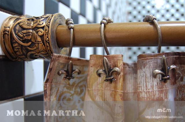Fleur de lis shower curtain hooks traditional by sinofaucet - Fleur de lis shower curtain hooks ...