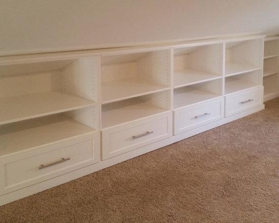 Sloped Ceiling Storage & Closet Design Ideas, Pictures, Remodel & Decor