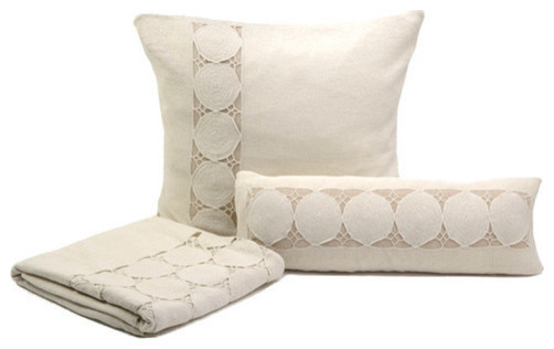 Sefte Paya Crocheted Pillow-Silver transitional-pillows