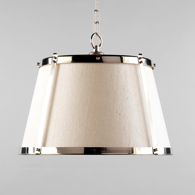 vaughan nickel hanging shade traditional pendant