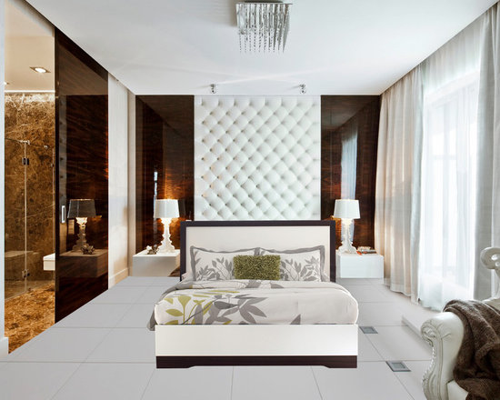 Bedrooms Furniture - White Bedroom Idea With Couple beds