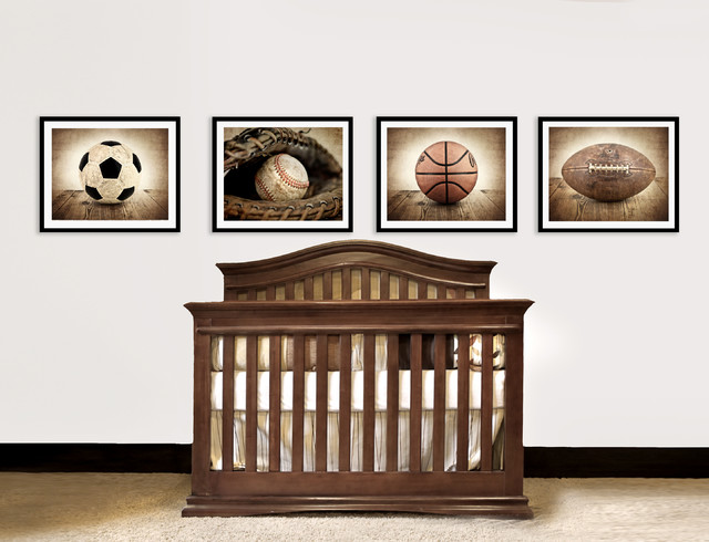 Vintage Sports Nursery Decor traditional-accessories-and-decor