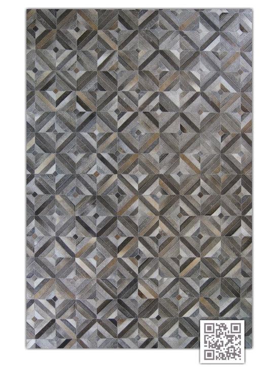 | Luxury Hide Patchwork Rugs ~ Miami Design - Kaymanta