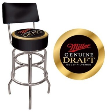Trademark Miller Padded Bar Stool with Back modern-bar-stools-and-counter-stools