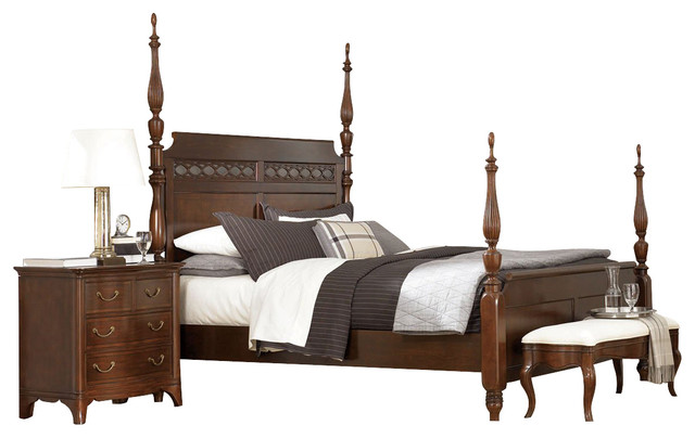 american drew cherry grove poster bedroom set