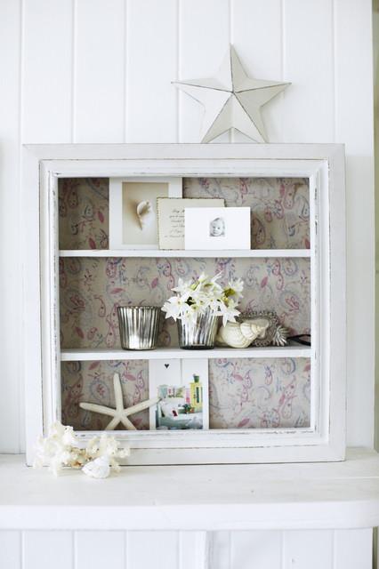 Paisley Box Shelf Traditional Display And Wall Shelves