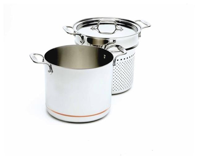 All Clad Copper Core Pasta Pentola contemporary-stockpots