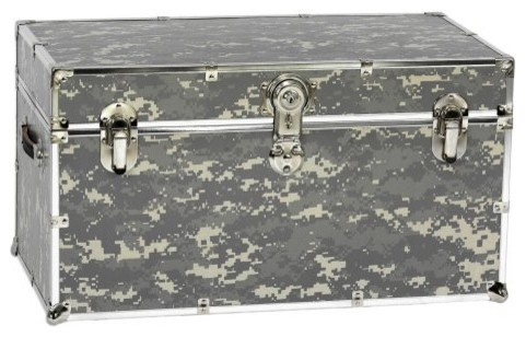 Digital Camouflage Steel Trunk with Optional Cedar Lining and Wheels traditional-dressers-chests-and-bedroom-armoires
