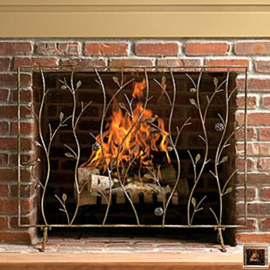 Fireplace Screen eclectic fireplace accessories