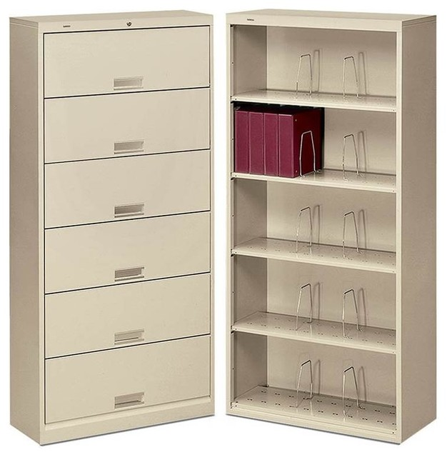 HON Brigade 600 Series Open 6-Shelf File contemporary-filing-cabinets ...