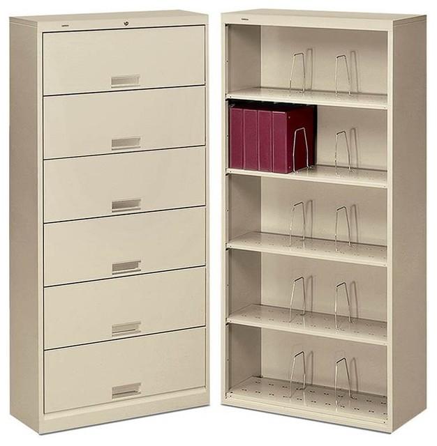 HON Brigade 600 Series Open 6-Shelf File - Contemporary ...