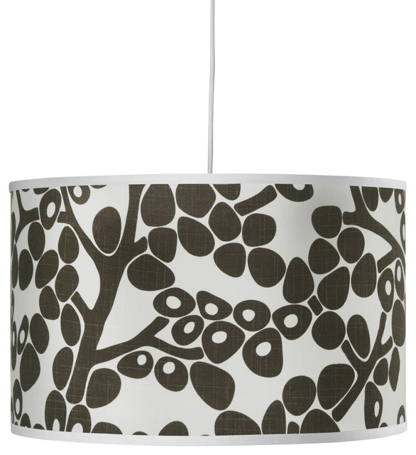 Modern Berries Large Cylinder, Brown contemporary-pendant-lighting