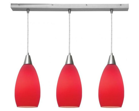Access Lighting 52312-BS/RED Three Light Island Light -