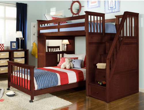 house l shaped bunk bed with desk and stairs modern loft beds