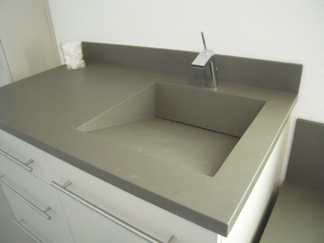 corian vanity r slot drain sink using the color