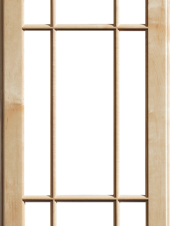 """Dura Supreme Cabinetry - Dura Supreme Cabinetry Mullion Patter #2 accent cabinet door - Dura Supreme Cabinetry """"Mullion Patter #2"""" accent cabinet door shown in Maple with Dura Supreme's """"Natural"""" finish."""
