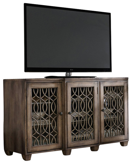 "64"" Entertainment Console - Transitional - Entertainment Centers And Tv Stands - by Masins Furniture"