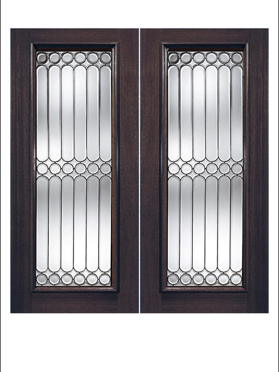 Exterior and Interior Beveled Glass Doors Model # 960 -