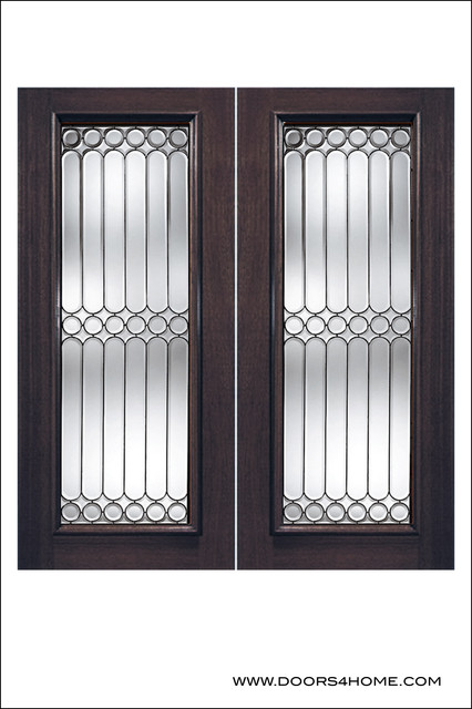 Exterior and Interior Beveled Glass Doors Model # 960 contemporary-front-doors