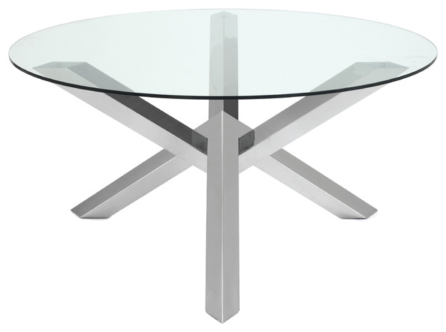 Metal Table Base Designs : Table in Stainless Steel by Nuevo - HGTA526 - Modern - Dining Tables ...