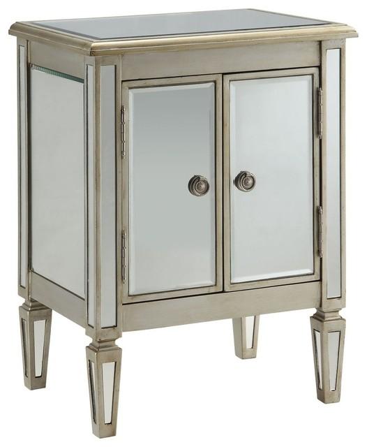 Accent Cabinet, Antique Silver modern-storage-cabinets