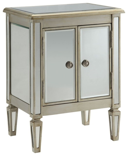 Accent Cabinet, Antique Silver modern-storage-units-and-cabinets