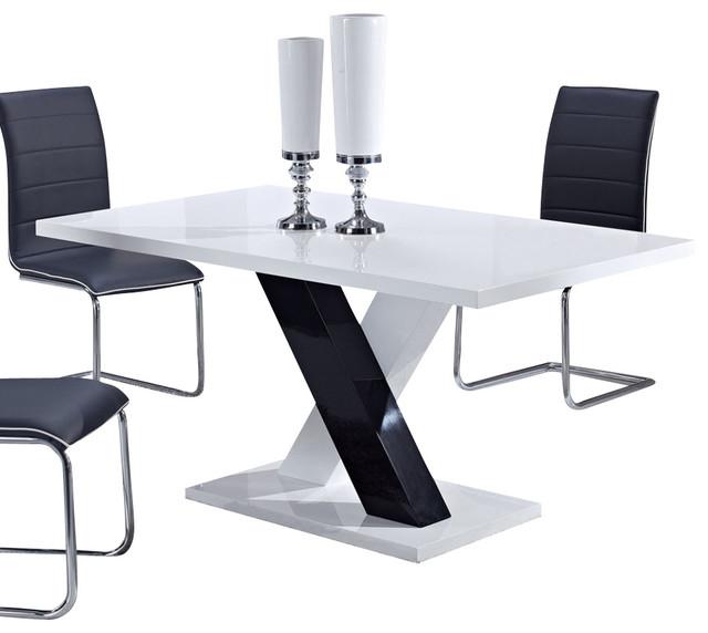 White High Gloss And Black By Global Furniture USA