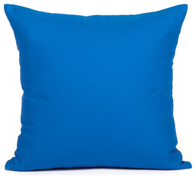 Dark Blue Throw Pillow : Solid Dark Blue Accent / Throw Pillow Cover contemporary-decorative-pillows